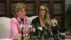 Attorney Gloria Allred says she's there to support Trump accuser Jessica Drake
