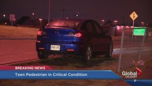 Teen in life threatening condition after being hit by a car