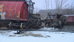 RAW VIDEO: Grain cars derail in Saskatoon