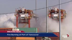 Chemical burning in Port of Vancouver can cause moderate irritation if exposed: BC Hazmat