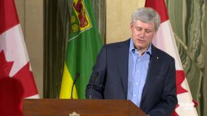 Prime Minister Harper says argument that Senate offers greater weight in Parliament for some provinces is untrue