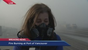 Reporter on the scene as Port fire continues to burn
