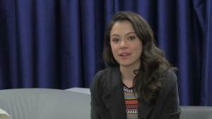 Tatiana Maslany struggles to hold back tears talking about LGBT friends