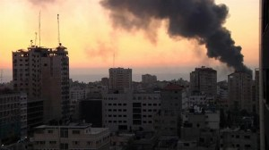 Explosion on Gaza skyline as Israel accepts Egyptian ceasefire proposal