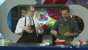 Cooking eggs benedict with The Salt Room Bistro's Chef Tony Krause
