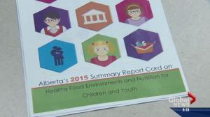 Alberta's grade in kids' nutrition