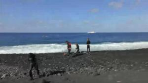 Scientists visit new volcanic island off the coast of Japan