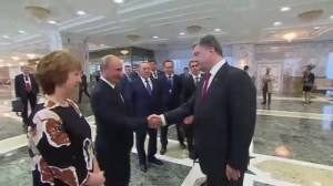 Presidents of Russia and Ukraine meet for first time since June