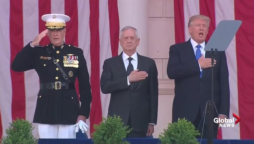 Trump pays somber tribute to fallen troops on Memorial Day