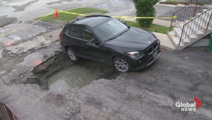 Sinkhole opens up in Scarborough driveway
