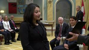Maryam Monsef takes over Status of Women portfolio
