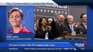 How Kellie Leitch plans to compete with Kevin O'Leary in the race for conservative leadership