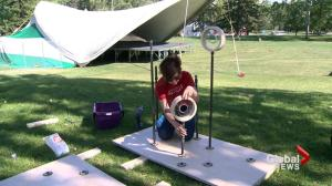 Calgary student uses festival vibrations to power lights installation