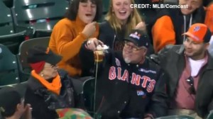 Two 'foul ball beer chug' moments on same day in MLB