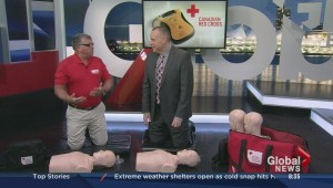 Automated external defibrillator demonstration