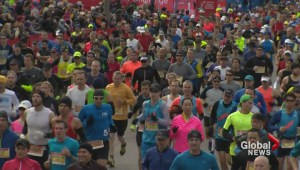 Thousands ran, walked and joggled in Toronto waterfront marathon