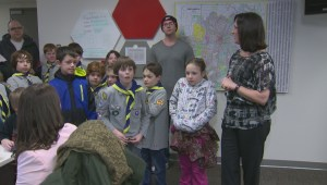Cub Scouts tour Global Winnipeg
