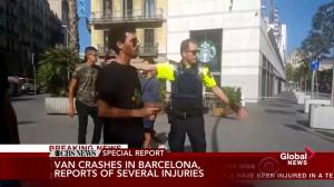 Reporter provides first-hand account of Barcelona van incident