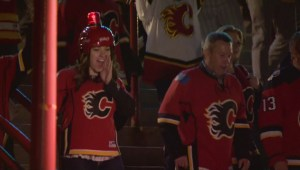 RAW: Flames fans celebrate 3-1 series lead