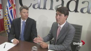 Trudeau and Robertson discuss opioid crisis, affordable housing, public transit