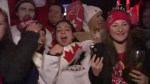 RAW: Fans celebrate Team Canada's gold medal win against Russia
