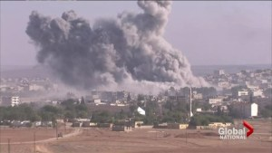 ISIS fighters battling Kurdish militias over Syrian ghost town