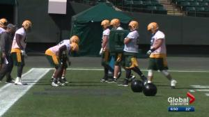 Edmonton Eskimos' offensive line undergoes changes ahead of Redblacks game