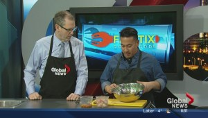 In the Global Edmonton kitchen with Filistix