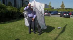 Global News Morning team tent challenge