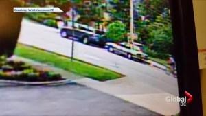 Surveillance video shows moment West Vancouver cyclist was struck