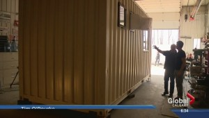 Carstairs company making homes out of shipping containers