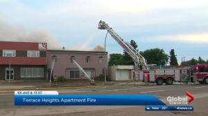 Edmonton apartment destroyed in fire
