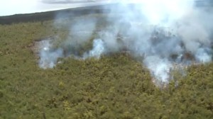 Lava flow threatens homes in rural part of Hawaii