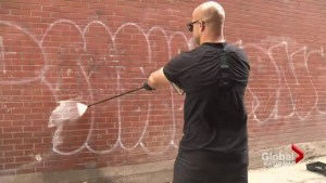Man removes racist, hateful graffiti in Montreal for free; brings good deed to Toronto