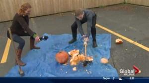 Smashing pumpkins at the Harvest Hootenanny