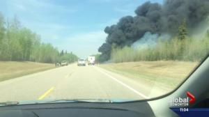 Deadly crash on Alberta highway being used by evacuees