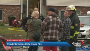 Crews battle Delta house fire Sunday afternoon