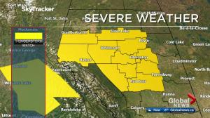 Severe thunderstorm watch for Edmonton, central Alberta Tuesday