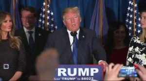 Donald Trump talks Bernie Sanders New Hampshire win, speech, crowd boos
