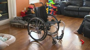 Woman gets back lost wheelchair from Sunwing damaged