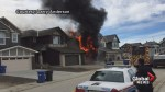 RAW: Calgary firefighters appear to experience delays fighting northeast house fire