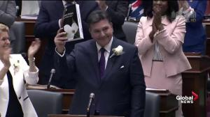 Ontario finance minister receives standing ovation