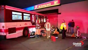 Raw video: Scene of fatal crash involving TTC bus