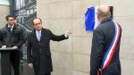 French President unveils plaques to mark Paris attack sites