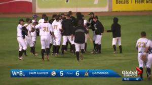 Edmonton Prospects beat Swift Current 6-5, win away from WMBL title