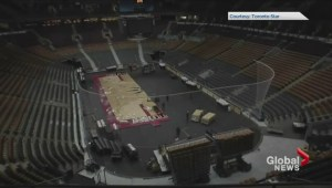 Behind-the-scenes look at how the Air Canada Centre converts from a basketball court to an ice rink
