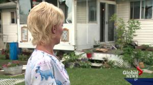 Ponoka residents clean up after storm packs serious punch
