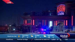 Police presence at Casino Calgary