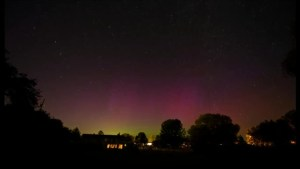 Timelapse of aurora in eastern Ontario