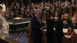 Premier of Quebec gives condolences during funeral for René Angélil